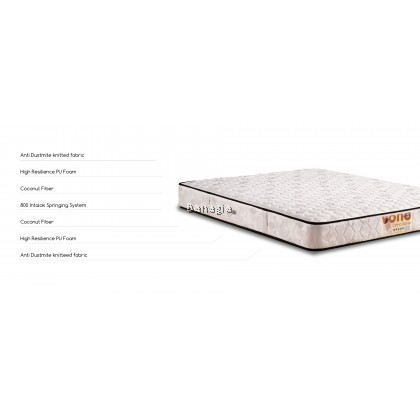 VONO Ortho Saver Mattress [FREE Pillow 2pcs] Back Care Collection(15 Years Warranty)