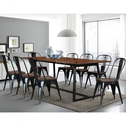 Solid Wood 1+8 Dining Set