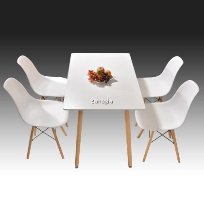 Eames Dining Set / Set Meja Makan / 1+4 / Bahagia Set Meja Makan Eames (Pre-Order)