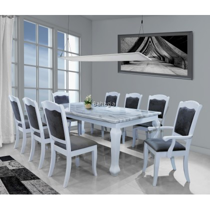 Miko White 1+8 Dining Set