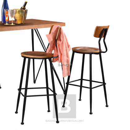 BAHAGIA Bar Stool and Bar Table
