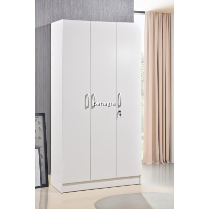 White Wardrobe - 2 Door / 3 Doors with Lock
