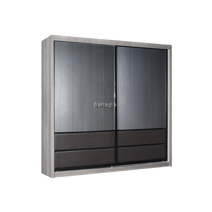 Miya Sliding Door Wardrobe With Lighting Bar